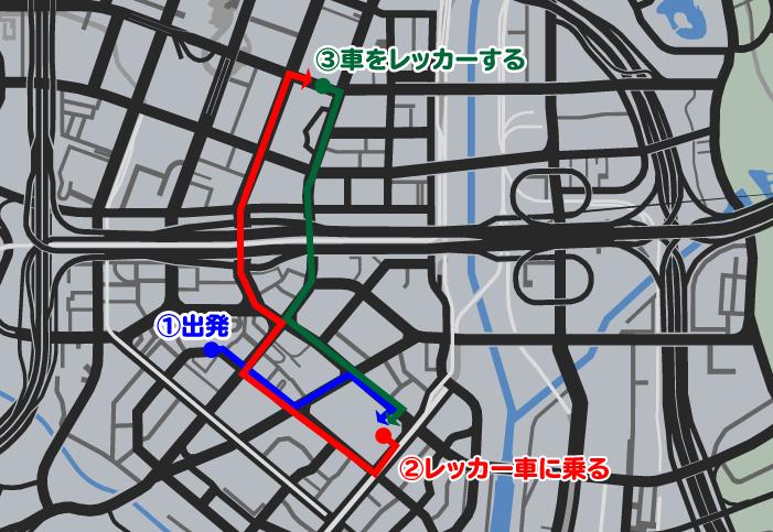 GTA5不審者と変質者『引きずる友人』マップ