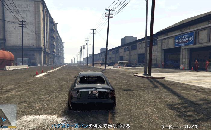 GTA5ストーリーミッション『バグスターズ装備』ロスサントス港に向かう