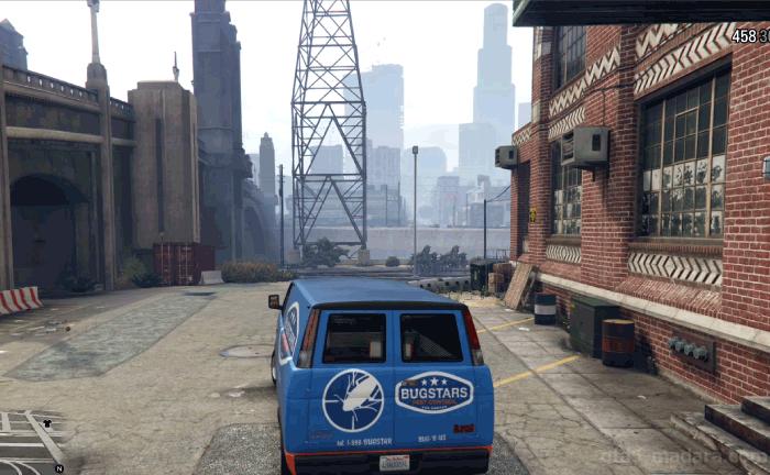 GTA5ストーリーミッション『バグスターズ装備』バンを運ぶ