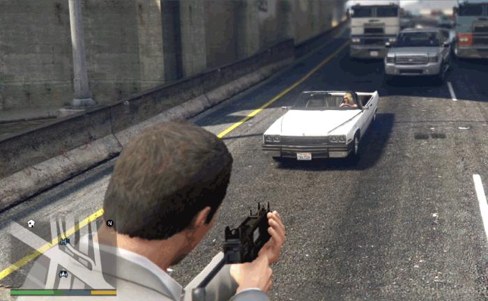 GTA5ストーリーミッション『カービンライフル』特殊部隊の車両を襲撃