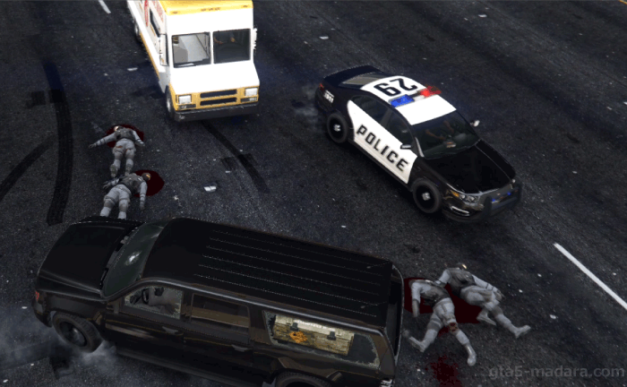 GTA5ストーリーミッション『カービンライフル』警察の手配