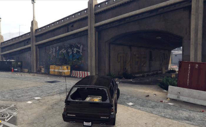 GTA5ストーリーミッション『カービンライフル』特殊車両を隠す