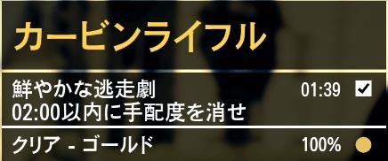GTA5ストーリーミッション『カービンライフル』ゴールド取得条件