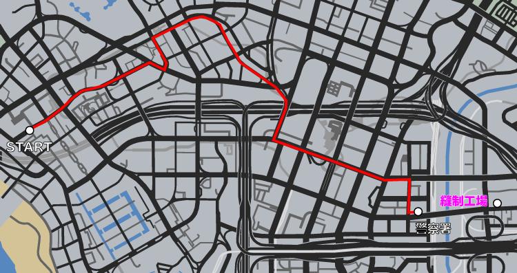GTA5ストーリーミッション『カービンライフル』マップ