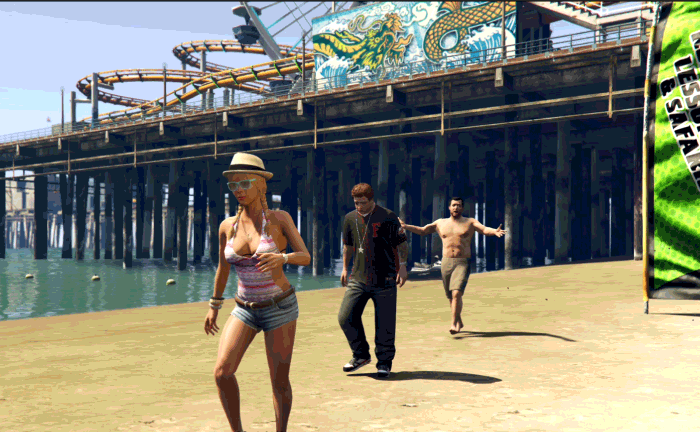 GTA5ストーリーミッション『パパの愛娘』ジミーと合流