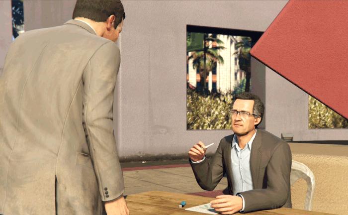 GTA5不審者と変質者『グラスルーツ:マイケル』バリーと話す