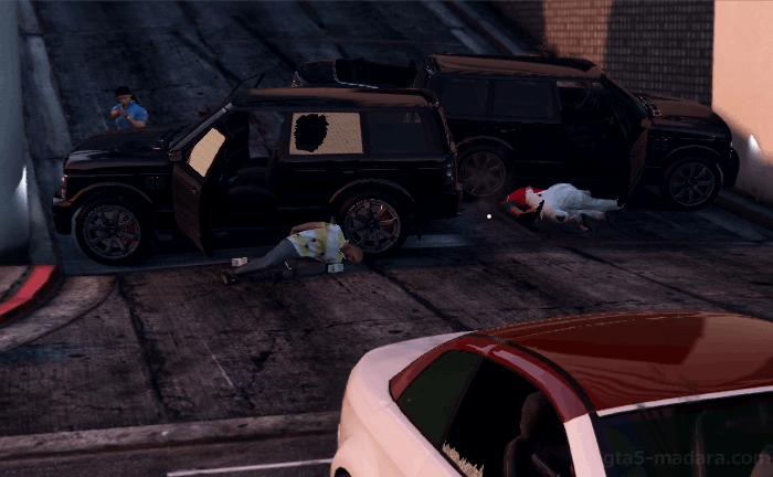 GTA5ストーリーミッション『夫婦カウンセリング』ギャングとの銃撃戦