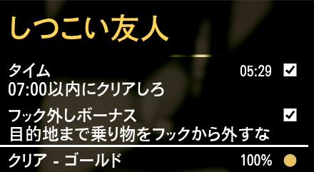 GTA5不審者と変質者『しつこい友人』ゴールド条件