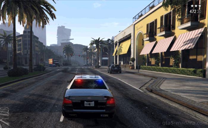 GTA5ストーリーミッション『良夫賢父』警察から逃げる