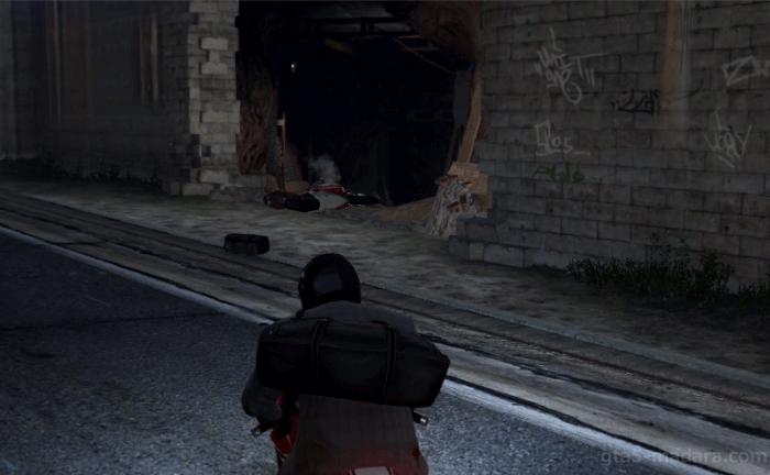 GTA5ストーリーミッション『強盗:宝石店(派手)』バイク事故