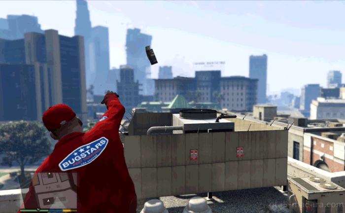 GTA5ストーリーミッション『強盗:宝石店(派手)』換気システムにBZガス手榴弾を投げる