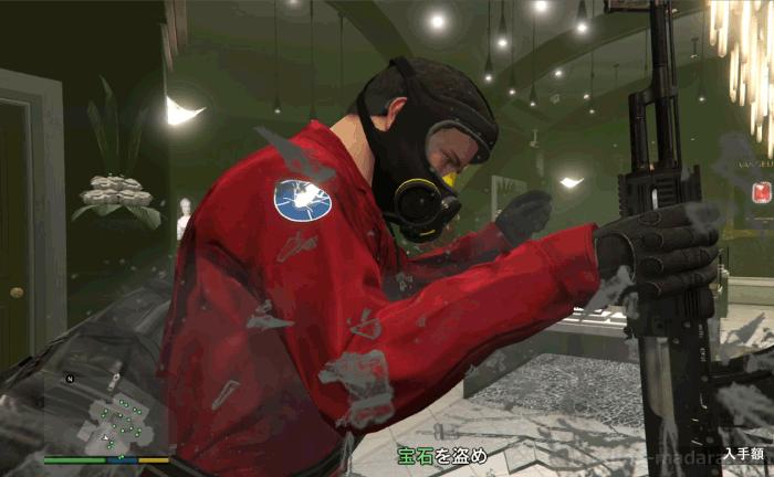 GTA5ストーリーミッション『強盗:宝石店(派手)』宝石を盗む