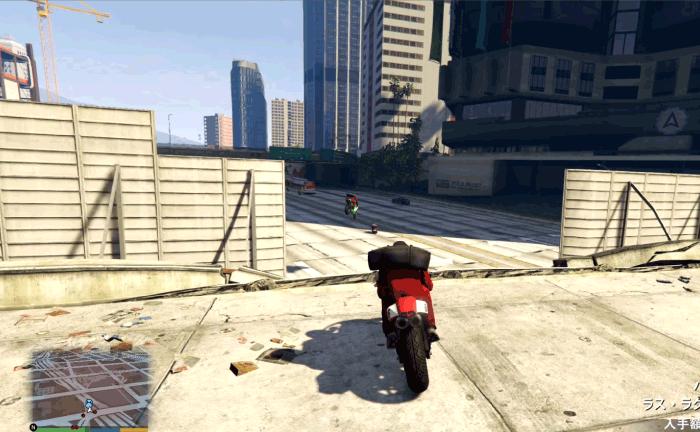 GTA5ストーリーミッション『強盗:宝石店(派手)』逃走する