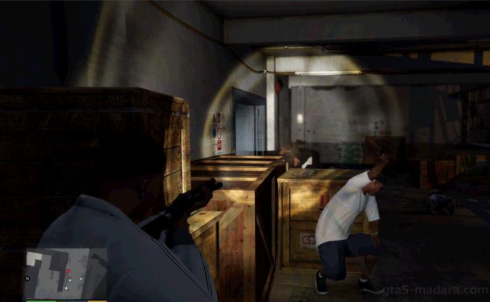 GTA5ストーリーミッション『ストレッチワーク』銃撃戦