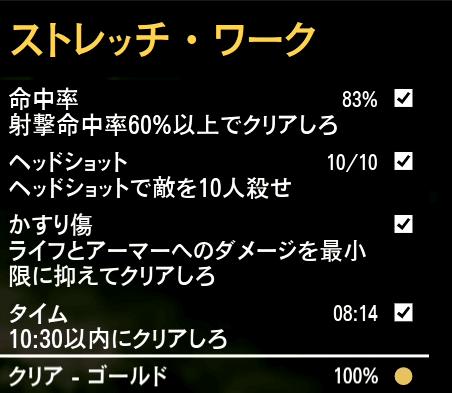 GTA5ストーリーミッション『ストレッチワーク』ゴールド取得条件