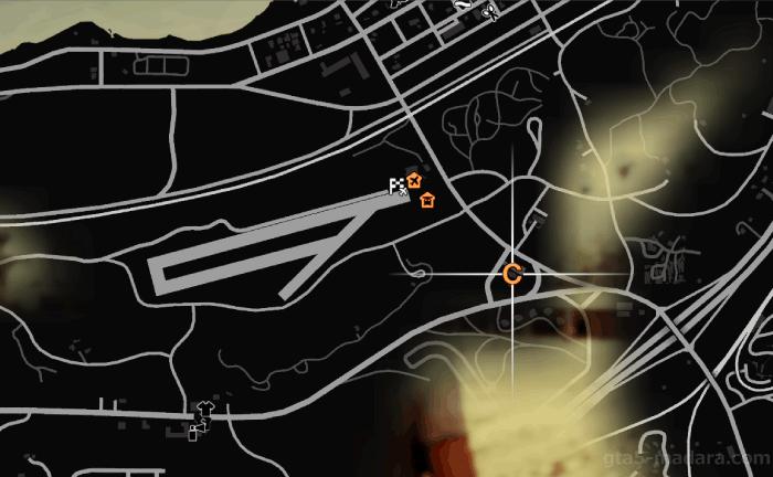 GTA5ストーリーミッション『結晶の迷宮』発生場所