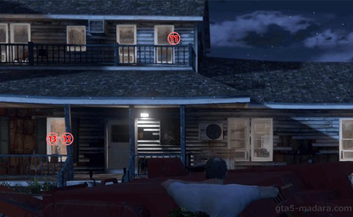 GTA5ストーリーミッション『結晶の迷宮』密造所の敵の位置