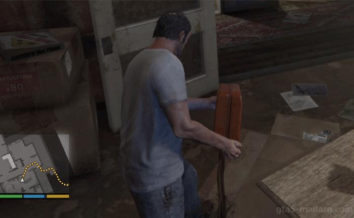 GTA5ストーリーミッション『結晶の迷宮』密造所にガソリンをまく
