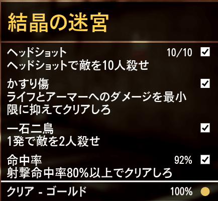 GTA5ストーリーミッション『結晶の迷宮』ゴールド条件
