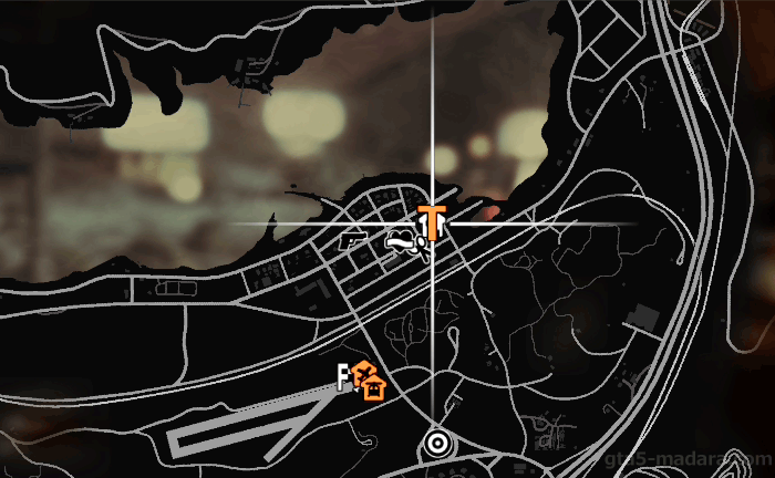 GTA5ストーリーミッション『見つかった男』発生場所
