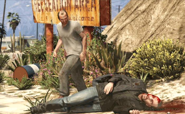 GTA5ストーリーミッション『ミスター・フィリップス』バイカーのジョニーをボコる