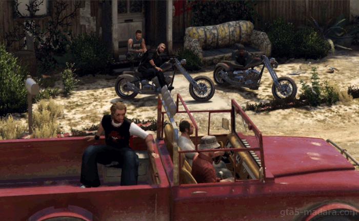GTA5ストーリーミッション『ミスター・フィリップス』バイカーの集会所