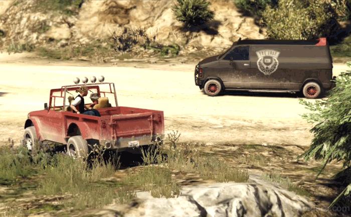 GTA5ストーリーミッション『ミスター・フィリップス』バイカーを追いかける