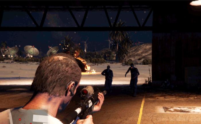 GTA5ストーリーミッション『ナーバス・ロン』敵を片付ける