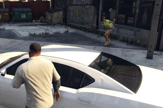 GTA5不審者と変質者『引きずりたい友人』トーニャを乗せる