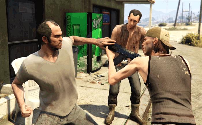 GTA5不審者と変質者『妄想ミッション1:田舎者』銃を奪い取る