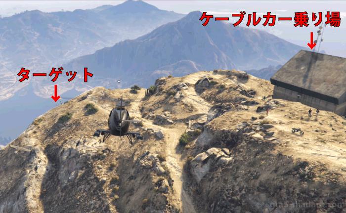 GTA5不審者と変質者『特別な絆』山 ターゲットの位置