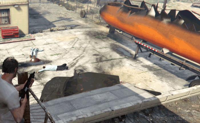 GTA5ストーリーミッション『トレバーフィリップス工業』タンクローリー