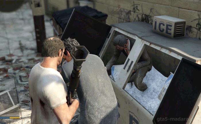 GTA5ストーリーミッション『トレバーフィリップス工業』中国人二人を助け出す