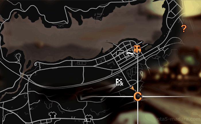 GTA5オフラインのストーリーミッション『トレバーフィリップス工業』開始場所