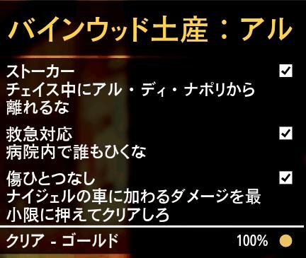 GTA5不審者と変質者『バインウッド土産:アル』ゴールド条件