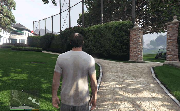GTA5不審者と変質者『バインウッド土産:マーク』ゴルフ場の入り口