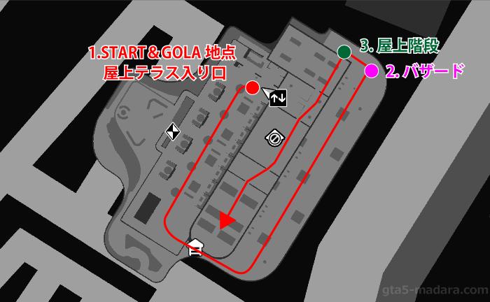 GTA5カジノアップデート『カジノ:逆風』ルートマップ