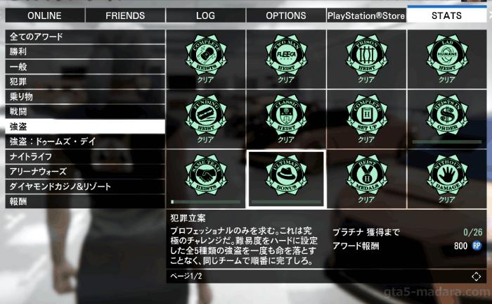 GTA5強盗ミッション特別ボーナス