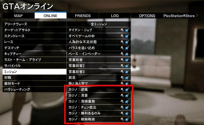 GTA5カジノミッションのリプレイ