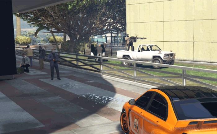GTA5カジノの裏仕事『警備班』敵を倒す