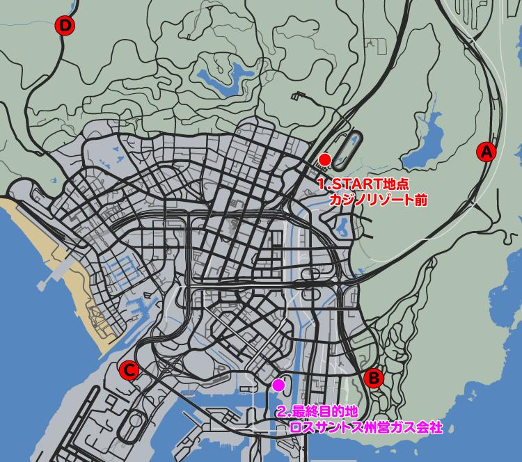 GTA5カジノアップデート『カジノ:勝利あるのみ』攻略マップ