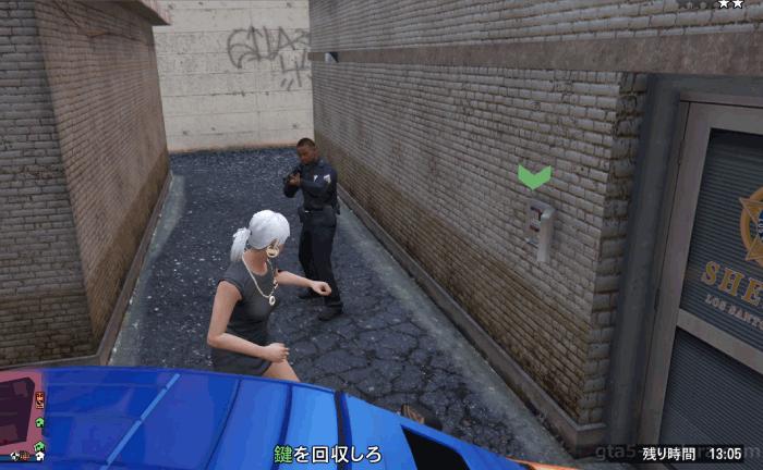 GTA5カジノの裏仕事『時間内に回収』カギを奪う