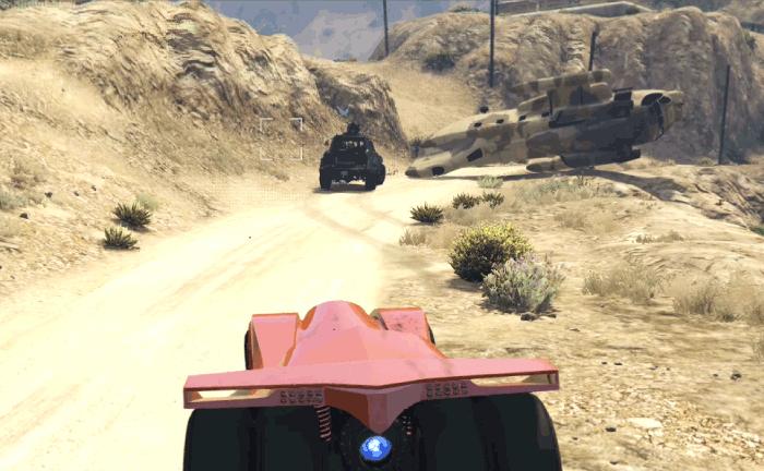 GTA5ヒューメイン研究所襲撃『軽装甲車』インサージェントを護衛