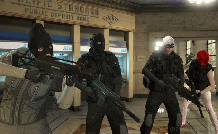 GTA5パシフィック銀行強盗『フィナーレ』扉前に集合する