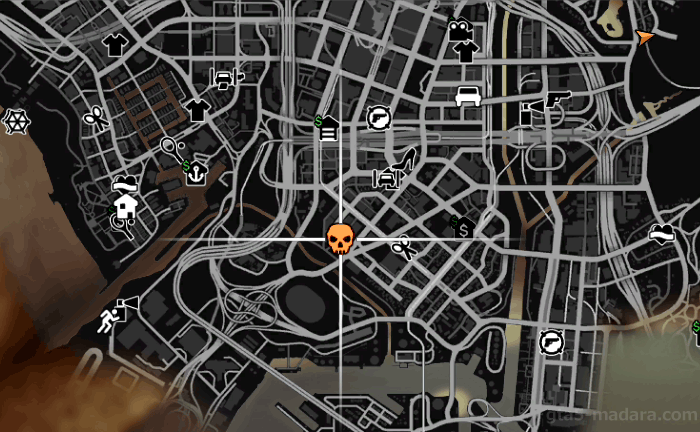 GTA5不審者と変質者ミッション『バラス』の発生場所