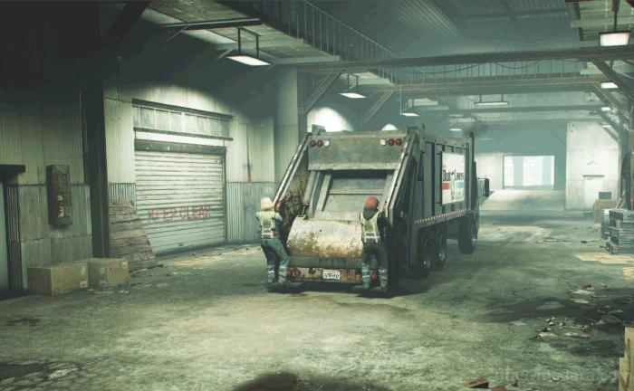 GTA5オンライン強盗『ドラッグ強盗ビジネス:収集車』収集車を貸倉庫に届ける