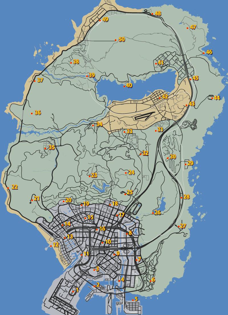GTA5信号ジャマー全50個の場所