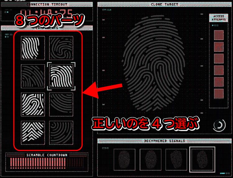 GTA5カジノ強盗の指紋のパーツは固定で決まっている!