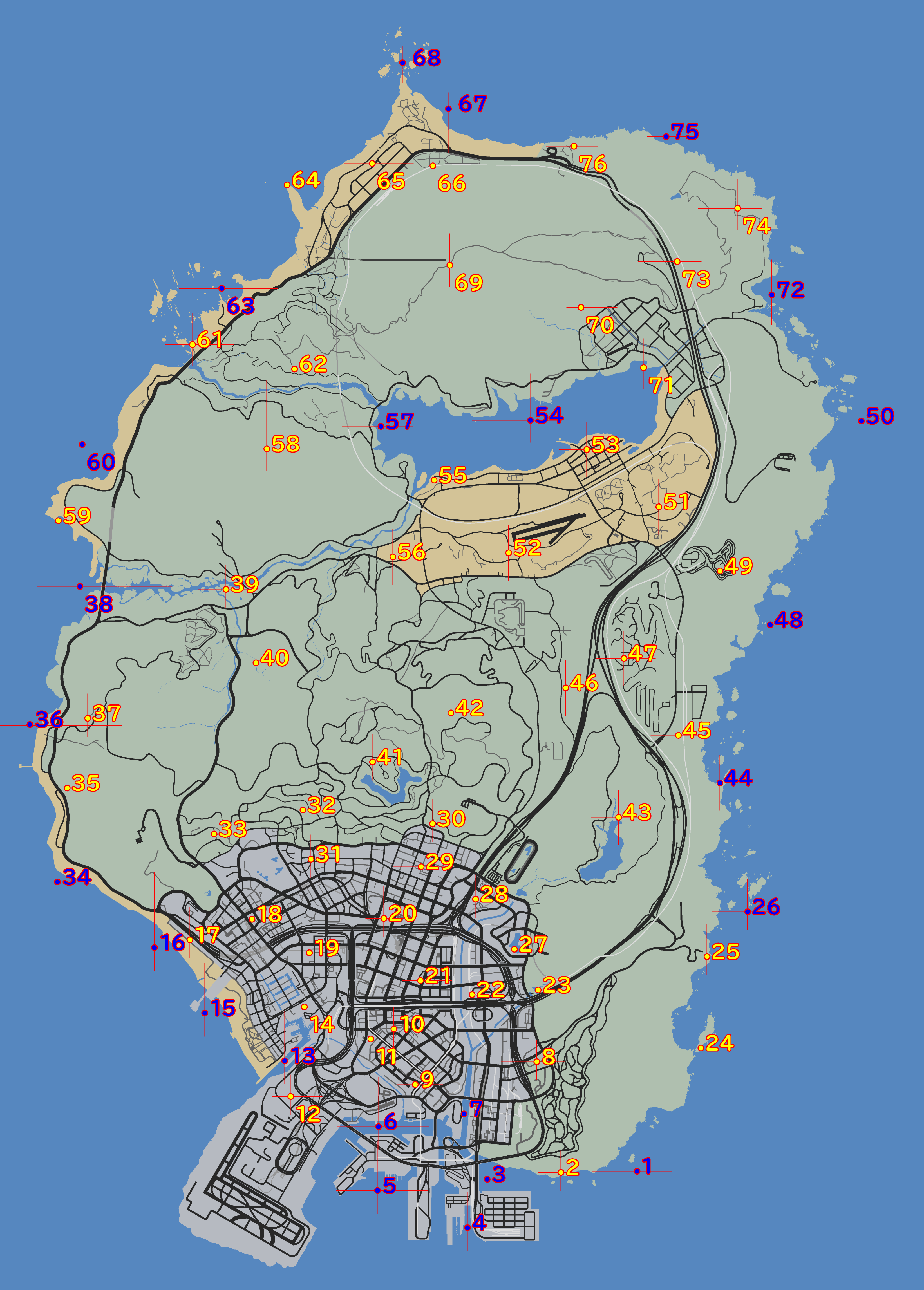 GTA5ペヨーテプラント全76ヵ所の場所