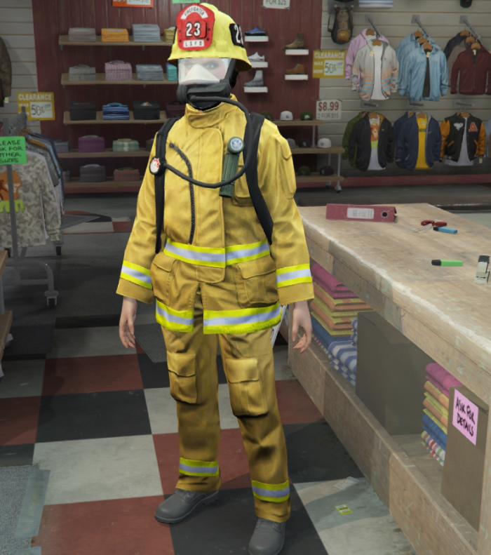 GTA5カジノ強盗(消防士の装備)